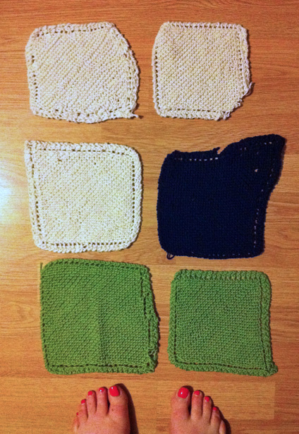 Also failed to progress beyond the dishcloth, knitting wise!