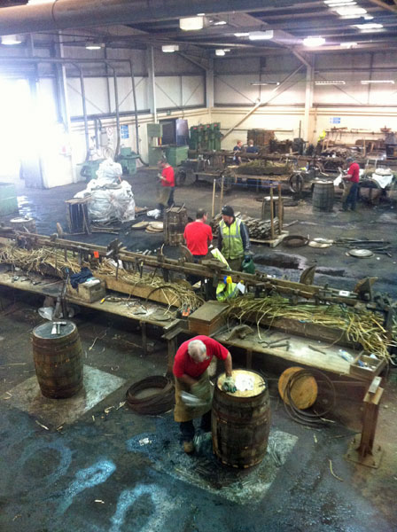 We visited the Speyside Cooperage and saw whisky barrels being made. Totally mesmerising!