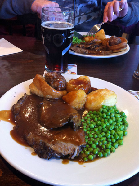 Sunday roast at the Ben Leva Hotel