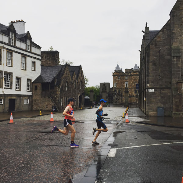 Edinburgh half marathoner leaders