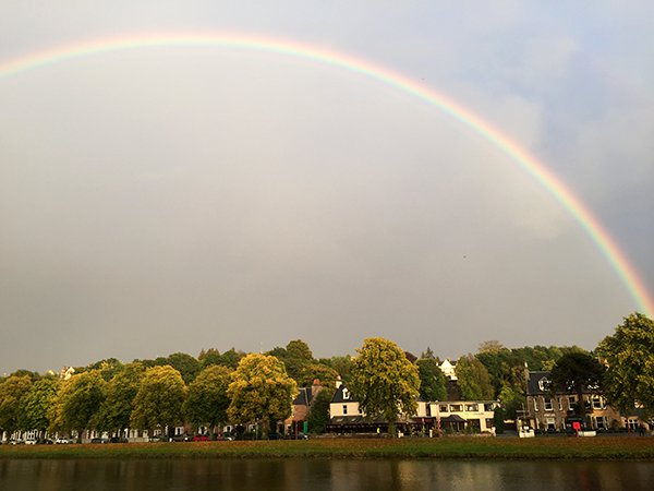 Rainbow over the River Ness, Inverness