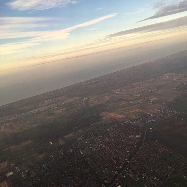 Flying over the Netherlands