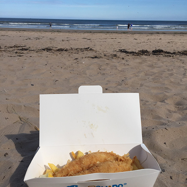 Fish and chips at St Andrews