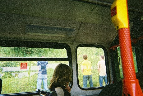 Loo stop on the way to T in the Park