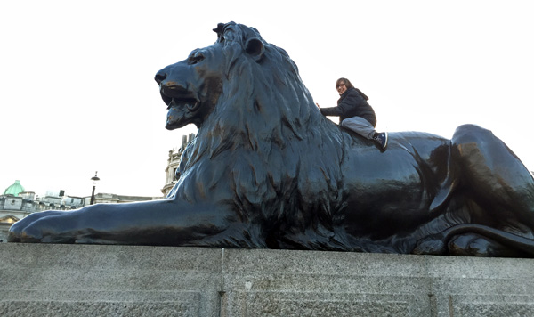 Evan in Trafalgar Square