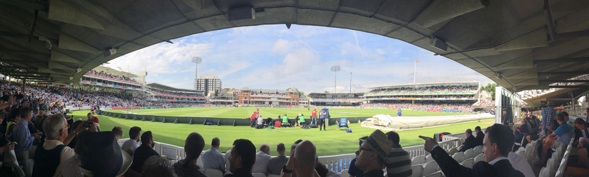 View from the Edrich Stand Lower Tier at Lord's Cricket Ground
