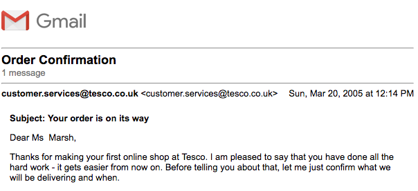 Welcome to Tesco