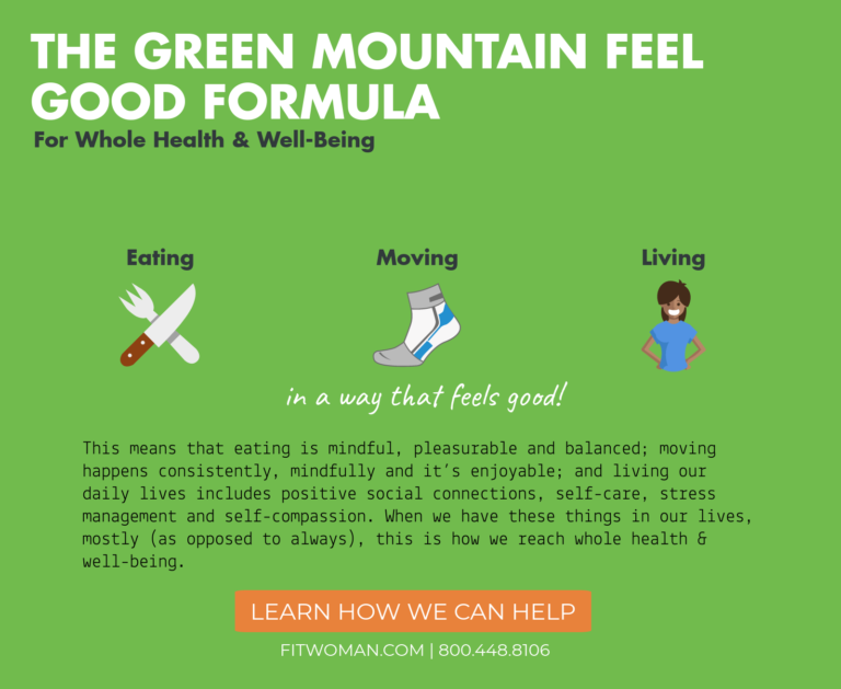 The Green Mountain Feel Good Formula
