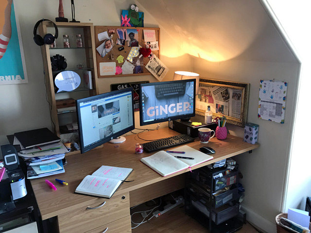 Elaine's desk... where the magic happens