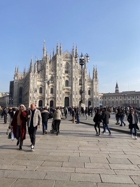January sunshine in Milan