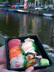Sushi by the canal