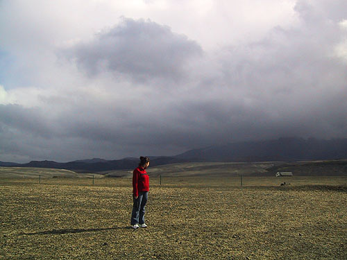 in front of Mt Hekla